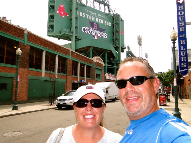 Outside of Fenway Park