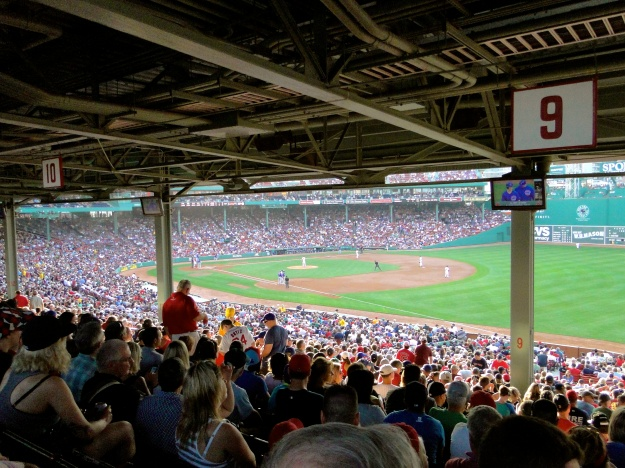 Our 'not so great' seats at Fenway