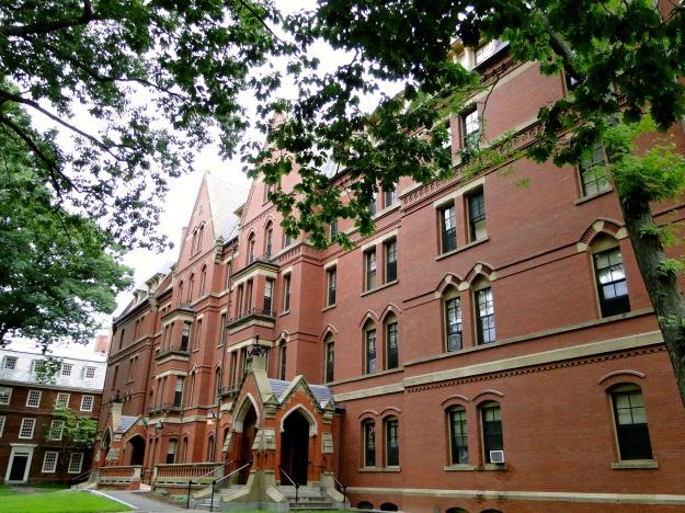 One of the many, many brick buildings at Harvard
