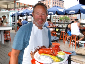 Mike's first Maine lobster