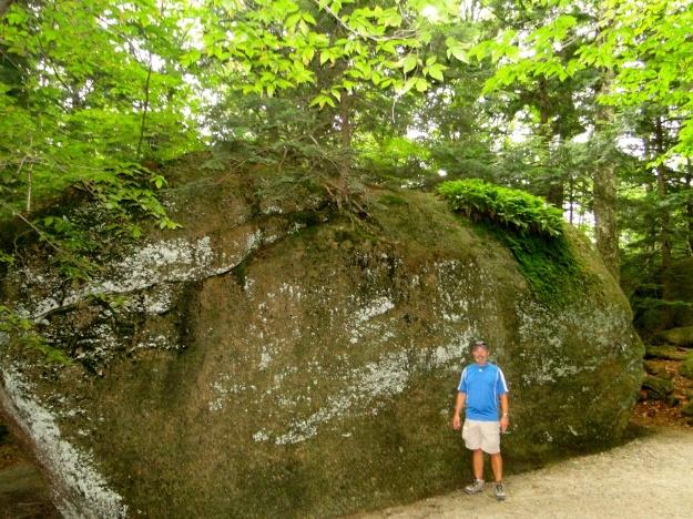 A HUGE granite boulder
