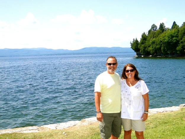 On the shores of Lake Champlain