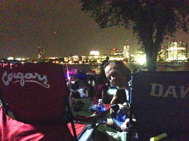 Awaiting the Fireworks at the Esplanade along the Charles River