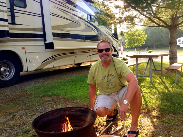 Enjoying Newfound Campground