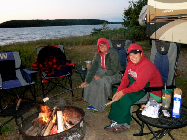 Smores at our spot in Munising