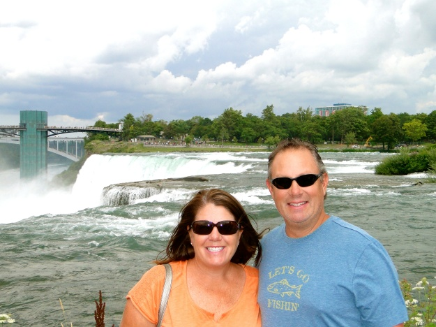 On top of the American Falls