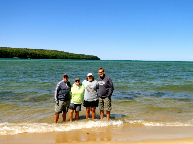 Group toe dip in Lake Superior!