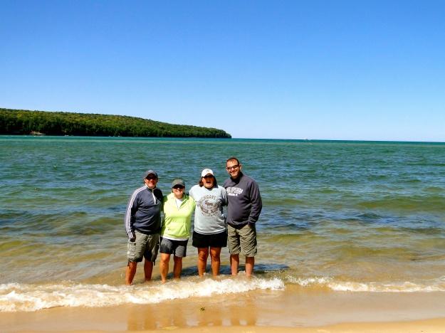 Group toe dip in Lake Superior!
