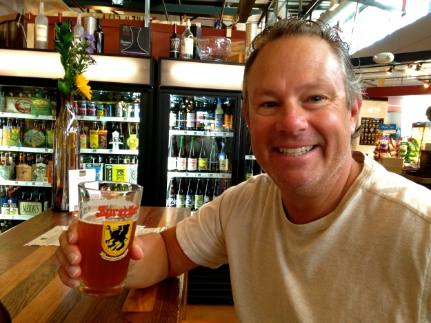 Enjoying a beer in the Public Market, Milwaukee