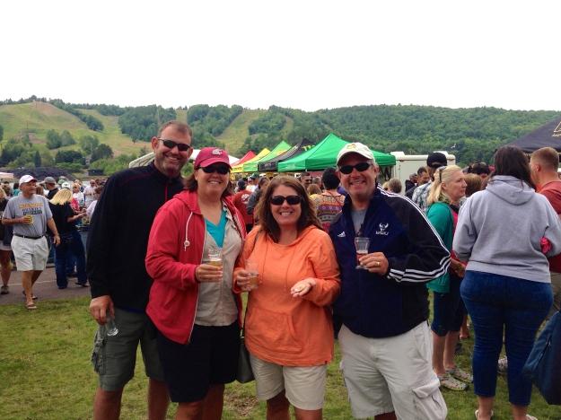 Enjoying the Houghton Brewfest!