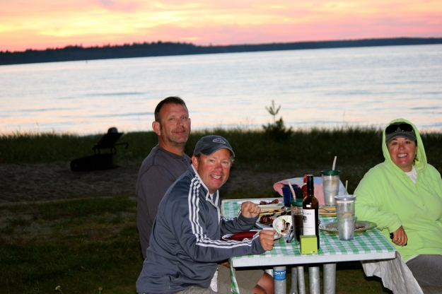 Beautiful sunset on our last night in Munising