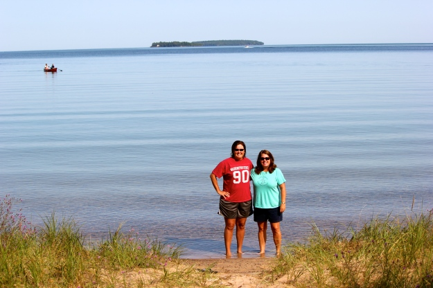 The weather finally cleared on the day we left Munising