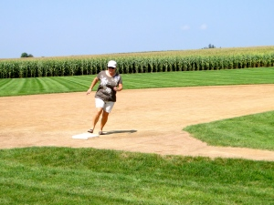Traci running the bases