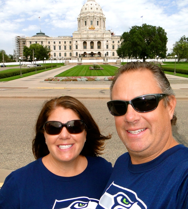 The capital building in St. Paul (Go Hawks!)