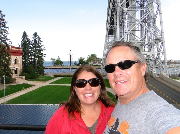 Our final day in Duluth with the Aerial Lift Bridge in the background