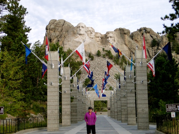 Avenue of the Flags at Mount Rushmore
