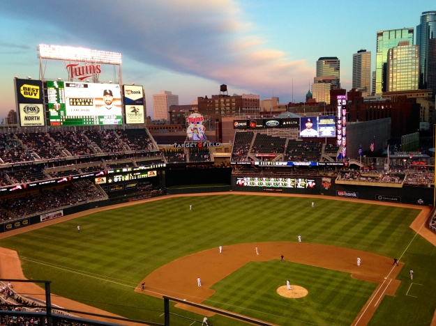 A great sunset at Target Field