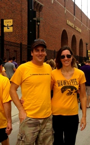 Steve and Nancy in their Hawkeye gear