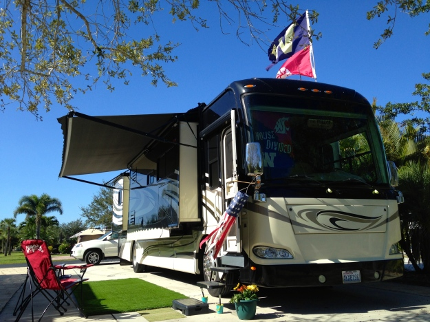 The MoHo all set up in Ft. Myers Beach