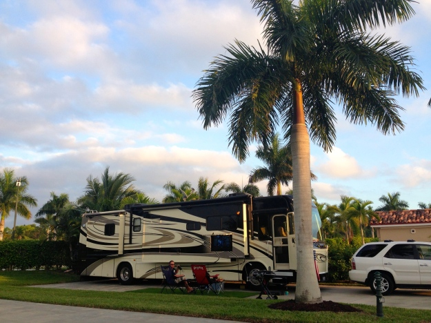 Our spot at the Naples Motorcoach Resort