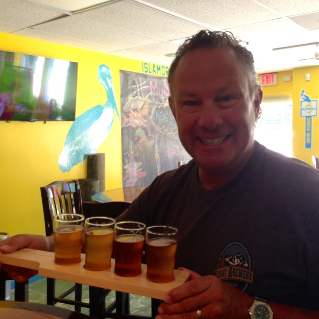 Beer tasting at Islamorada Brewery