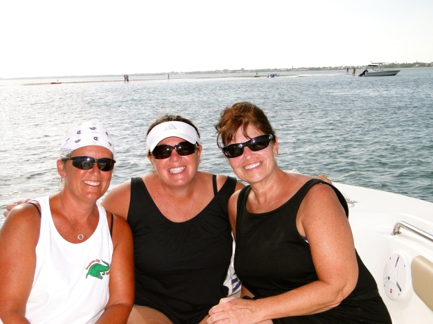 Carol, Me and Sandy - happy boaters!
