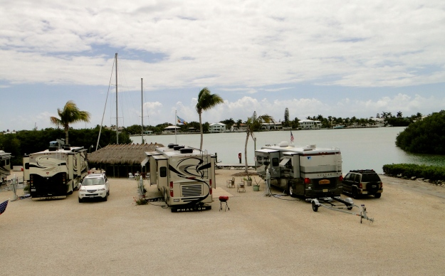 Our spot at the Bonefish Bay RV Park, a hidden gem