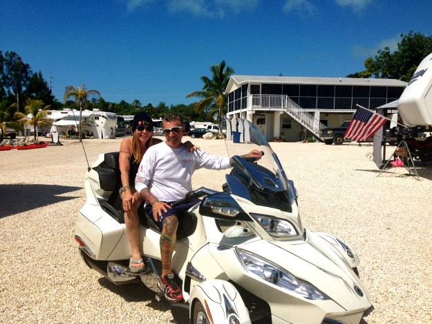 Our Key Largo campground neighbors, Nick & Sherri, drove down for the day to visit