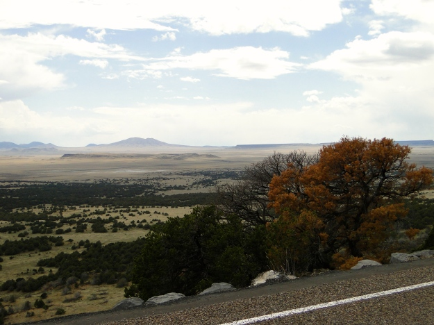 View from the top of the Capulin Volcano