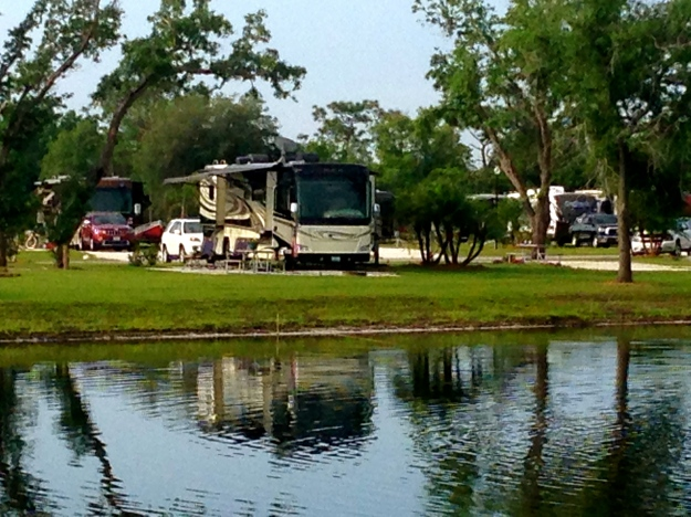 Our spot in Arcadia at Riverside RV Resort