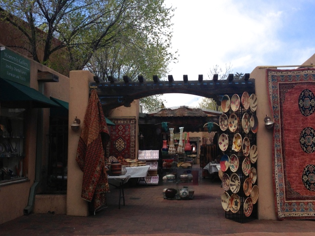 Downtown Santa Fe shopping