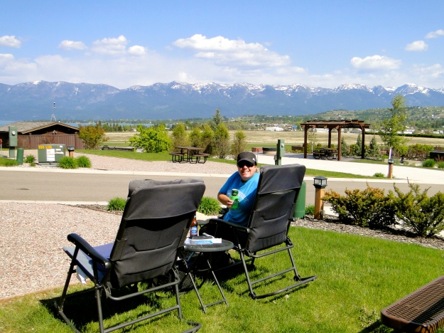 We had a great view of Flathead Lake from our site
