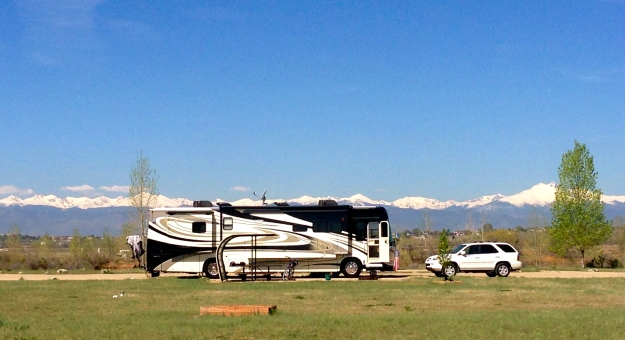 Our campground at St. Vrain State Park