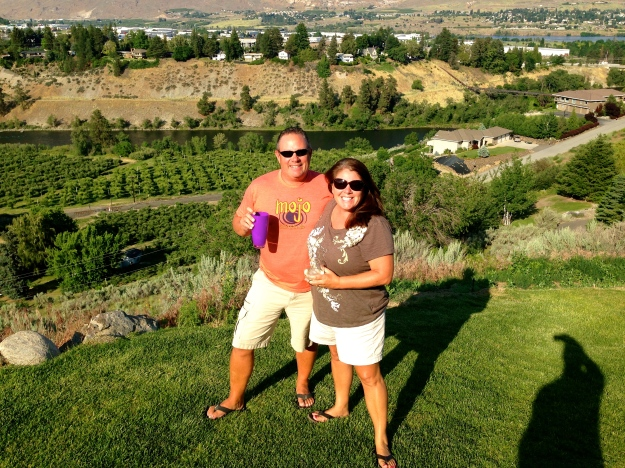 Mike & I with the amazing view at Casa de Pflu