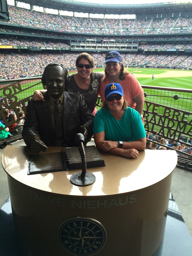 Mariners game with Shelly and Kris