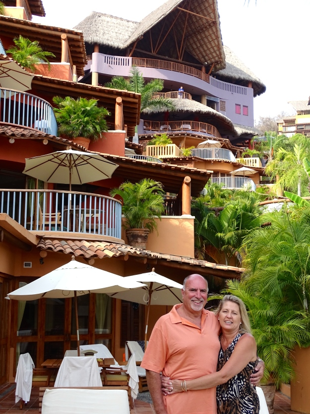 Bruce & Vickie at our ocean villa